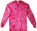 Custom Spider Pink Longsleeve Tye Dye Shirts