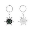 Custom Rudder Wheel Compass Keychain, 3.5