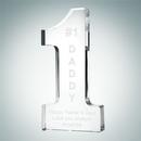 Custom Crystal Number One Award (Large), 6