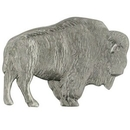 Custom Animal Pin - Antique Silver Buffalo, 1