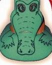 Custom Foam Alligator Pop Up Visor