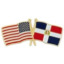 Custom Usa & Dominican Republic Flag Pin, 1 1/8