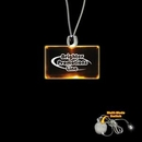 Custom Amber Yellow Rectangle Light Up Pendants