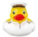 Custom Rubber Ship Captain Duck, 3 3/8