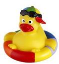 Custom Rubber Rainbow Bobbin Buddy Duck, 3 3/4