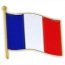Custom French Flag Pin, 3/4
