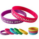 Custom Embossed Silicone Wristband w/ Color Accented, 8