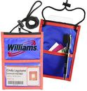 Custom Two Tone Classic Event Pouch w/ top zipper & adjustable cord, 6.75