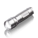 Custom The Cortes LED Flashlight - Silver, 1.4375