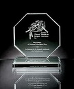 Custom Octagonus Maximus Award - Starfire Glass (4 3/8