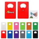 Custom Card Sized Bottle Opener With Fridge Magnets, 3.5