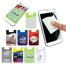 Custom Silicon Smart Phone Wallet With Screen Cleaner, 2 1/4