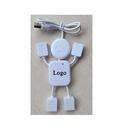 Custom USB 2.0 Humanoid 4-port Hub Splitter, 3.54