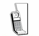 Custom Cell Phone Notekeeper Magnet - 20 Mil Process Color (2 1/4