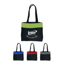Custom 600D Poly Two-Tone Tote Bag(Full Color Process), 17