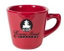 Custom 7 oz. Mini Funnel Crimson Mug, 3.25