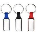 Custom Metal Keychain Silicone Strap, 3.25