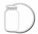 Custom Circle Bottle Notekeeper Magnet- 20Mil Process Color (2-7/8