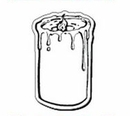 Custom Candle Notekeeper Magnet- 20 Mil Process Color (2-1/2