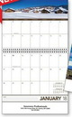 Custom Panoramic Memo Stitched Wall Calendar, 10.375