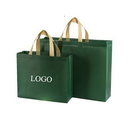 Custom Coated Non Woven Tote Shopping Bags, 17 3/4