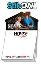 Custom Magna-Note Sheet Stik-On W/ House Magnet, 3.5