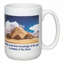 Custom 15 Oz. Full Color Sublimated Ceramic C Shape Mug, 4 1/2