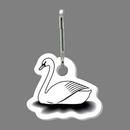 Custom Swan (Left, Outline) Zip Up