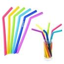 Custom Foldable Silicone Reusable Straws, 9.85