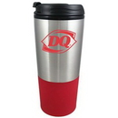 Custom 16 Oz. Stainless Steel Tumbler w/Plastic Liner Mug Red