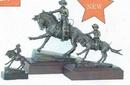 Custom Remington Cowboy Sculpture w/ Marble Base (3