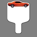 Custom Hand Held Fan W/ Full Color Red Dodge Charger Car, 7 1/2