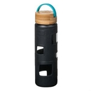 Custom The Astral Glass Bottle w/Teal Lid - 22oz Black, 2.87