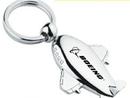Minya International Custom Metal Airplane Key Chain, 1 1/2