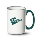 Custom Clancy Mug - 15oz White/Green