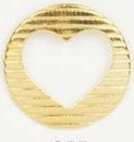 Custom Round W/ Cut Out Heart Stock Cast Pin