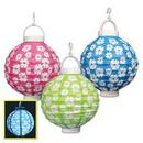 Custom Light-Up Hibiscus Paper Lanterns, 8