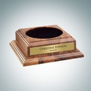 Custom Optional Walnut Wood Base With Personalized Plate, 2 1/2