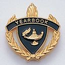 Blank Fully Modeled Epoxy Enameled Scholastic Award Pins (Yearbook), 7/8