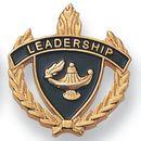 Blank Fully Modeled Epoxy Enameled Scholastic Award Pins (Leadership), 7/8