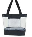 Custom Simple Clear Tote Bag w/ Inside Pocket, 11 1/2