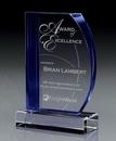 Custom Cherished Sapphire Crystal Award, 6 1/4