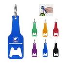 Custom Metal Beer Bottle Shape Bottle Opener With Key Chain, 3.5
