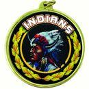 Custom TM Medal Series w/ Indians Scholastic Mascot Mylar Insert