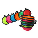 Custom Collapsible Silicone Pet Bowl, 2 1/8