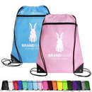 Custom Reinforced Polyester Drawstring Backpack with Top Zipper, 14