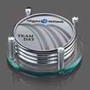 Custom Montclair Coasters - Set of 4 (Sublim Silver), 5.0