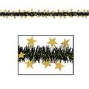Custom Flame Resistant Metallic Star Garland, 12' L