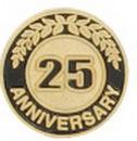 Custom 25 Years Anniversary Round Stock Die Struck Pin