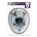 Custom Spider Toilet Topper Peel 'N Place Toilet Topper